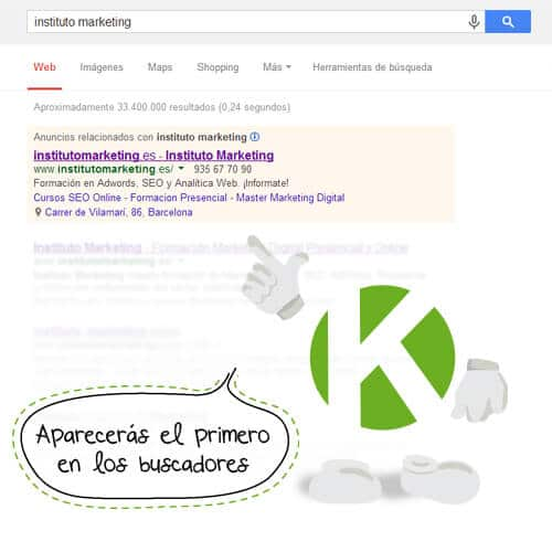Curso presencial Instituto Marketing